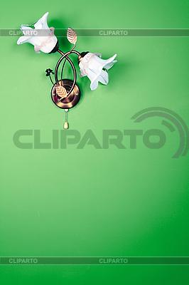 Blumen-Lampe an der Wand | Foto mit hoher Auflösung |ID 3110052