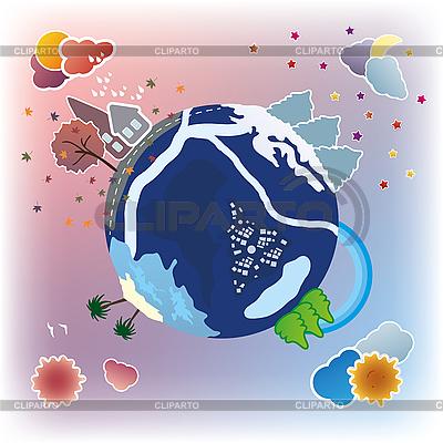 Cartoon earth | Stockowa ilustracja wysokiej rozdzielczości |ID 3079290