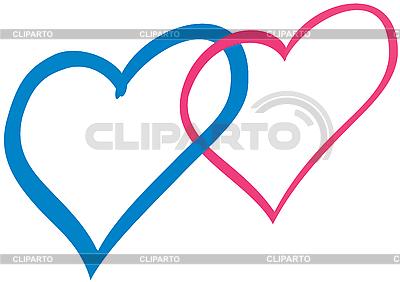 Angeschlossene Herzen | Illustration mit hoher Auflösung |ID 3080507