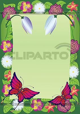帧的花朵 | 向量插图 |ID 3080856