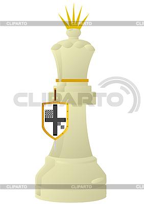 Biała Królowa Chess | Klipart wektorowy |ID 3096949