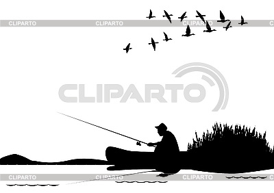 Angeln vom Boot | Stock Vektorgrafik |ID 3105474