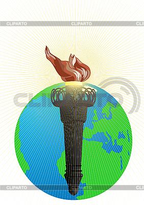 Flamme Fackel | Stock Vektorgrafik |ID 3105480