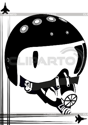 Helm eines Kampfpiloten | Stock Vektorgrafik |ID 3112814