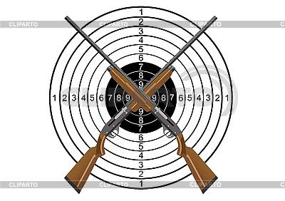 Jagdgewehr und Ziel | Stock Vektorgrafik |ID 3112852