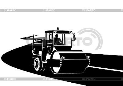 Maszyny drogowe na drodze | Klipart wektorowy |ID 3142139