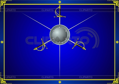 Schwerter auf blauem Hintergrund | Stock Vektorgrafik |ID 3160258