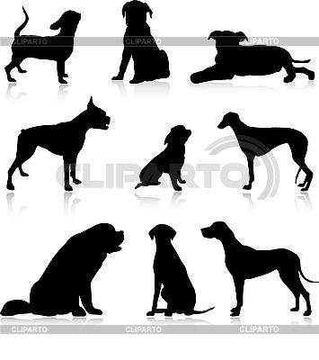 Silhouetten von Hunden | Stock Vektorgrafik |ID 3083405
