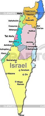 Izrael map | Klipart wektorowy |ID 3083508