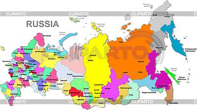 Карта России | Векторный клипарт |ID 3087382