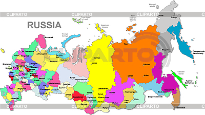 Russlands Landkarte | Stock Vektorgrafik |ID 3087382