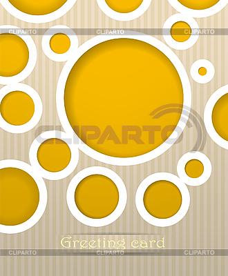 Postkarte mit Kreisen | Stock Vektorgrafik |ID 3101666