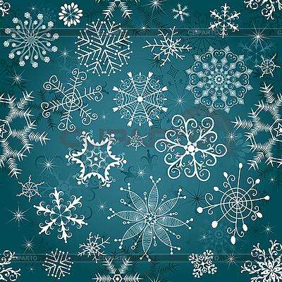 Новогодний синий бесшовный фон | Векторный клипарт |ID 3083070