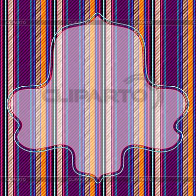 Bunter gestreifter Hintergrund mit Rahmen | Stock Vektorgrafik |ID 3089976