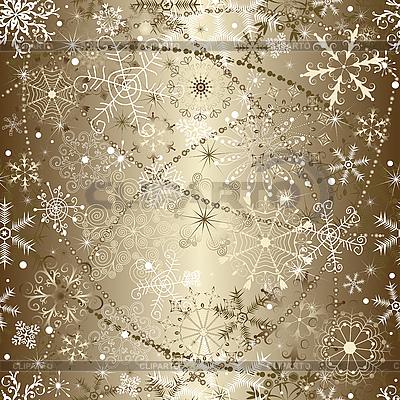 Weihnachtshintergrund von Schneeflocken | Stock Vektorgrafik |ID 3107442