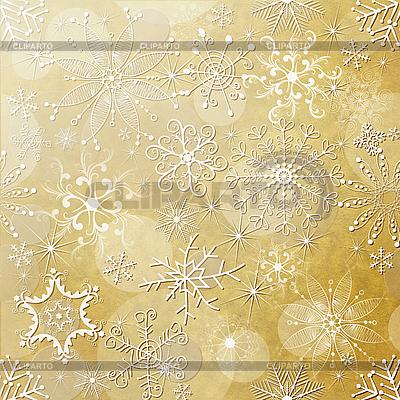 Новогодний фон из снежинок | Иллюстрация большого размера |ID 3110219