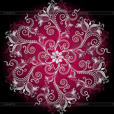 Florales rundes Ornament | Stock Vektorgrafik |ID 3174138
