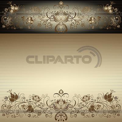 Vintage rama złoto easter | Klipart wektorowy |ID 3197058