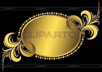 Oval golden vintage frame | Klipart wektorowy |ID 3247332