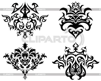 고딕 양식의 패턴 세트 | 벡터 클립 아트 |ID 3087261
