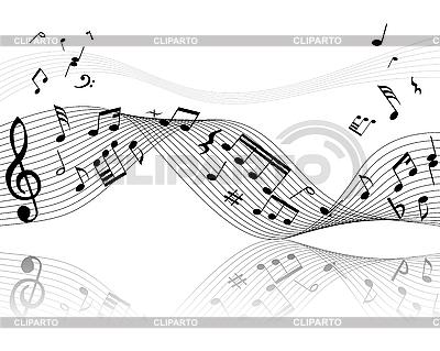 Hintergrund von Musiknoten | Stock Vektorgrafik |ID 3087952