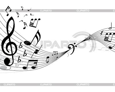 Hintergrund von Musiknoten | Stock Vektorgrafik |ID 3087958