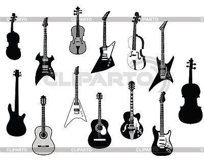 Gitarren-Silhouetten | Stock Vektorgrafik |ID 3089156