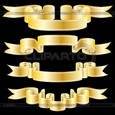 金色的丝带 | 向量插图 |ID 3089865