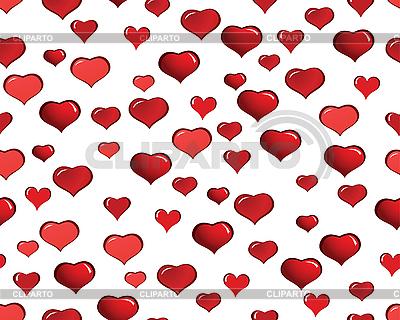 Bez szwu tła z czerwonym sercem | Klipart wektorowy |ID 3101200