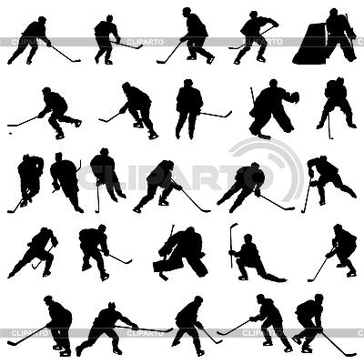 Hokej ustawić sylwetki | Klipart wektorowy |ID 3157347