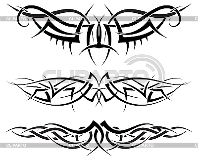 Symetrical tattoos | Klipart wektorowy |ID 3157573