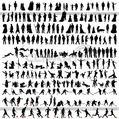Set von Menschen-Silhouetten | Stock Vektorgrafik |ID 3177027