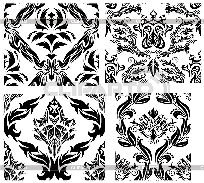 Seamless damask patterns set | Klipart wektorowy |ID 3187027