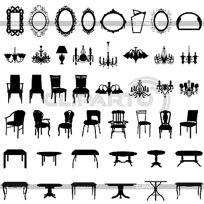 мебель векторный клипарт: