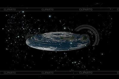 Ebene Erde zwischen den Sternen | Illustration mit hoher Auflösung |ID 3083003