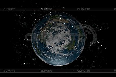Flat Earth planety wewnątrz gwiazd | Stockowa ilustracja wysokiej rozdzielczości |ID 3083005