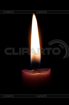 Brennende Kerze in der Dunkelheit | Foto mit hoher Auflösung |ID 3083708