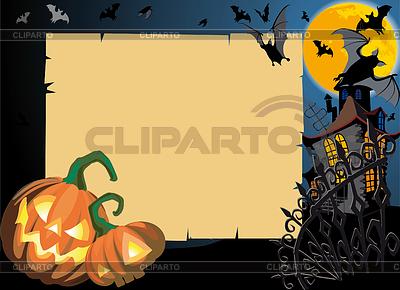 Halloween-Karte mit Rolle-Rahmen | Stock Vektorgrafik |ID 3305179