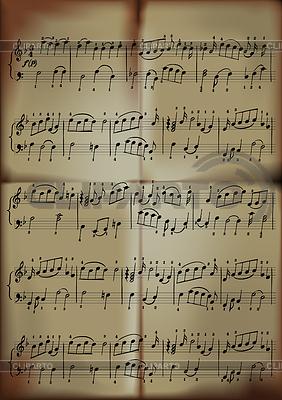 Von Musiknoten | Stock Vektorgrafik |ID 3305244