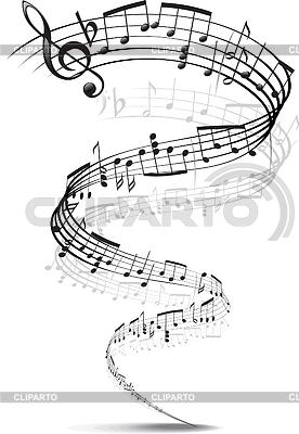 Musik-Noten in eine Spirale verdreht | Stock Vektorgrafik |ID 3305251
