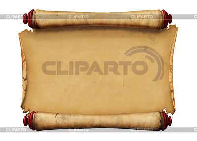 Horizontal Old Blank Scroll | Stockowa ilustracja wysokiej rozdzielczości |ID 3305293