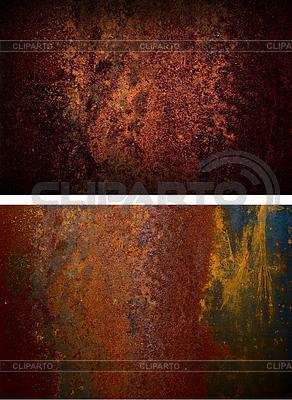 Zwei rostige Eisenplatte | Foto mit hoher Auflösung |ID 3305295