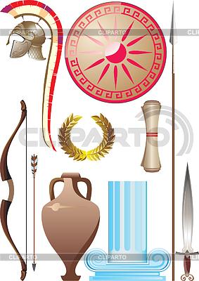 Set des antiken griechischen Kriegers | Stock Vektorgrafik |ID 3305376