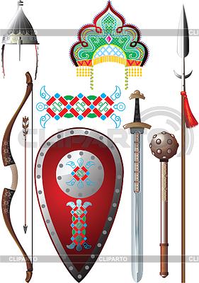 Rosyjski bohater epicki set | Klipart wektorowy |ID 3305378