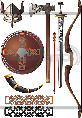 Набор викинга | Векторный клипарт |ID 3305382
