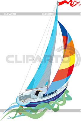Żeglarstwo - jacht żaglowy | Klipart wektorowy |ID 3305395