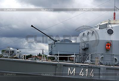 Waffe auf dem Kriegsschiff | Foto mit hoher Auflösung |ID 3087639