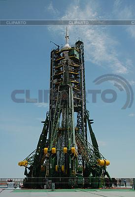 Statek kosmiczny Sojuz na wyrzutni | Foto stockowe wysokiej rozdzielczości |ID 3115779