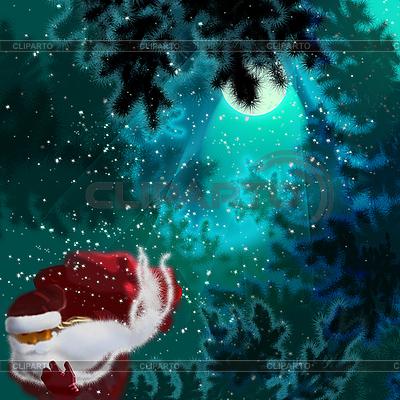 Weihnachtskarte mit Santa Claus | Illustration mit hoher Auflösung |ID 3104734