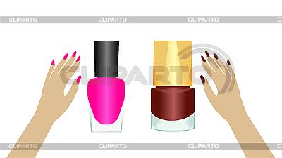 Dwa lakiery do paznokci | Klipart wektorowy |ID 3083991